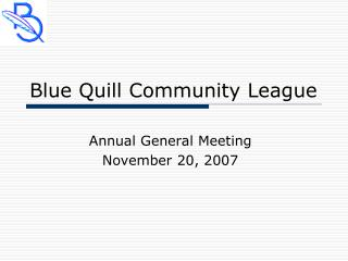 Blue Quill Community League