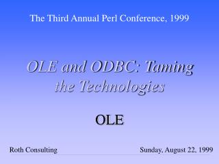 OLE and ODBC: Taming the Technologies