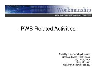 - PWB Related Activities -