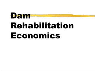 Dam Rehabilitation                                                           Economics