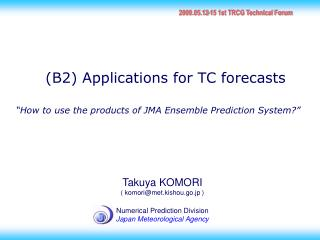 """How to use the products of JMA Ensemble Prediction System?"""