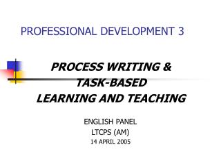 PROFESSIONAL DEVELOPMENT 3