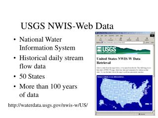 USGS NWIS-Web Data