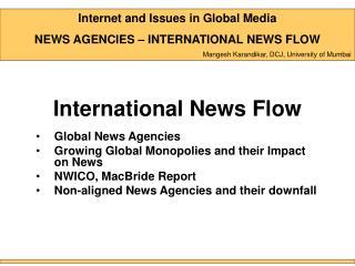 International News Flow