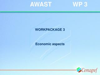 WORKPACKAGE 3 Economic aspects