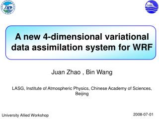 A new 4-dimensional variational data assimilation system for WRF
