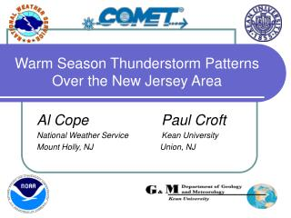 Warm Season Thunderstorm Patterns Over the New Jersey Area