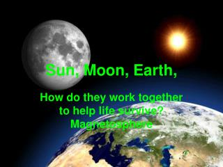Sun, Moon, Earth,