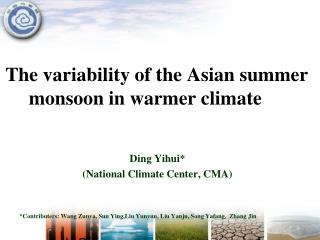 The variability of the Asian summer monsoon in warmer climate