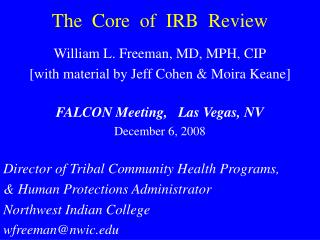 The  Core  of  IRB  Review