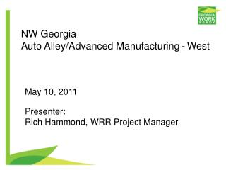 NW Georgia  Auto Alley/Advanced Manufacturing -  West