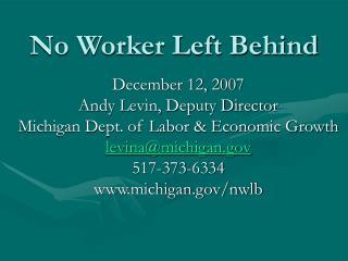 No Worker Left Behind
