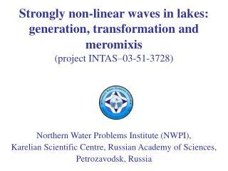 Northern Water Problems Institute (NWPI),