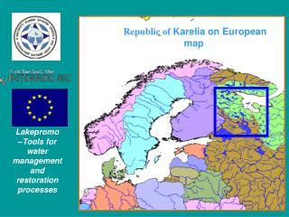 Republic of  Karelia on European map