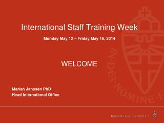 International  Staff  Training Week