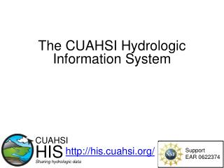 The CUAHSI Hydrologic Information System