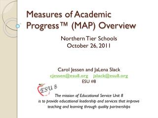 Measures of Academic Progress™ (MAP) Overview