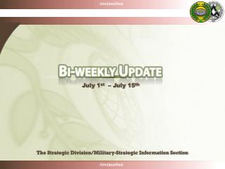 The Strategic Division/Military-Strategic Information Section
