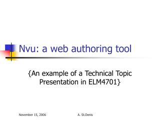 Nvu: a web authoring tool