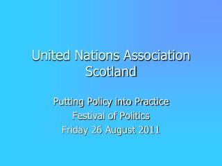 United Nations Association Scotland
