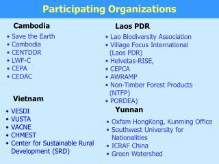 Save the Earth   Cambodia  CENTDOR  LWF-C  CEPA  CEDAC