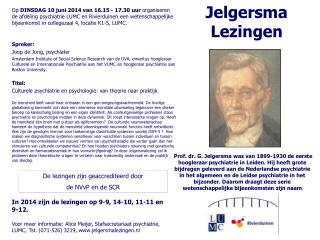 Jelgersma  Lezingen