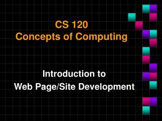 CS 120 Concepts of Computing