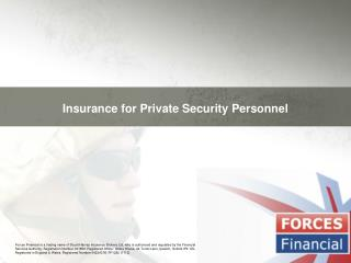Insurance for Private Security Personnel