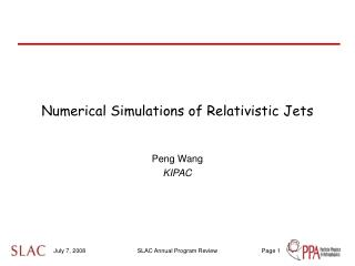 Numerical Simulations of Relativistic Jets