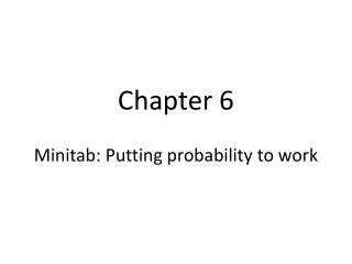 Minitab Chapter 5