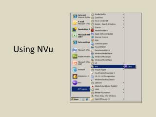 Using NVu