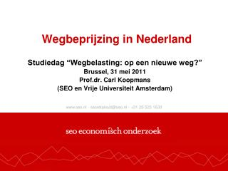 Wegbeprijzing in Nederland