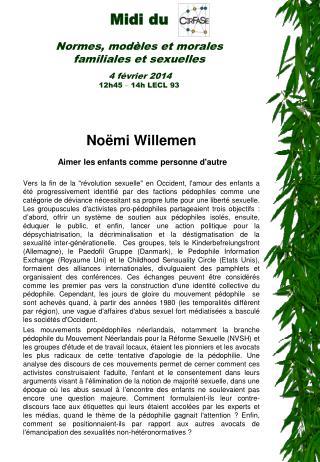 Noëmi Willemen Aimer l es enfants comme personne d'autre