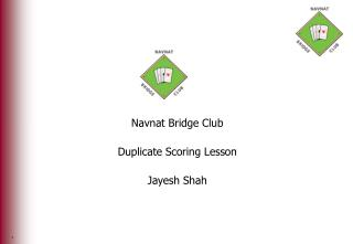 Navnat Bridge Club Duplicate Scoring Lesson Jayesh Shah