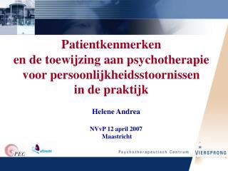 Helene Andrea NVvP 12 april 2007  Maastricht
