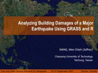 Analyzing Building Damages of a Major Earthquake Using GRASS and R