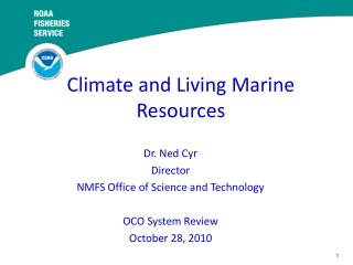 Climate and Living Marine Resources