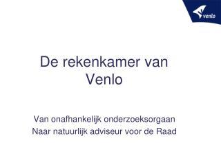 De rekenkamer van Venlo