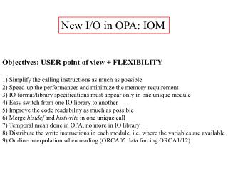 New I/O in OPA: IOM