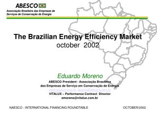 The Brazilian Energy Efficiency Market october  2002