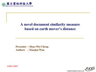 A novel document similarity measure  based on earth mover's distance