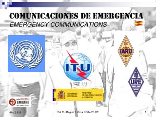 COMUNICACIONES DE EMERGENCIA EMERGENCY COMMUNICATIONS