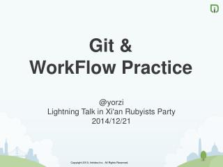 Git &  WorkFlow Practice