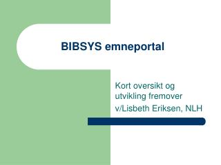 BIBSYS emneportal