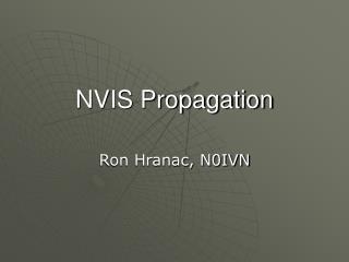 NVIS Propagation