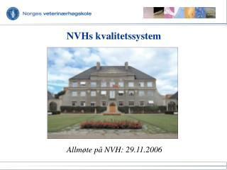NVHs kvalitetssystem