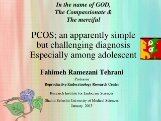 PCOS and ADOLESCENTS
