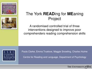 The York  READ ing for  ME aning Project