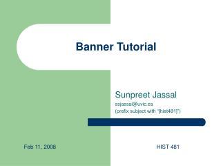 Banner Tutorial
