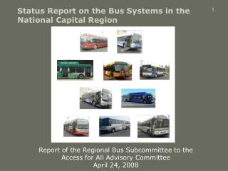 Status Report on the Bus Systems in the National Capital Region
